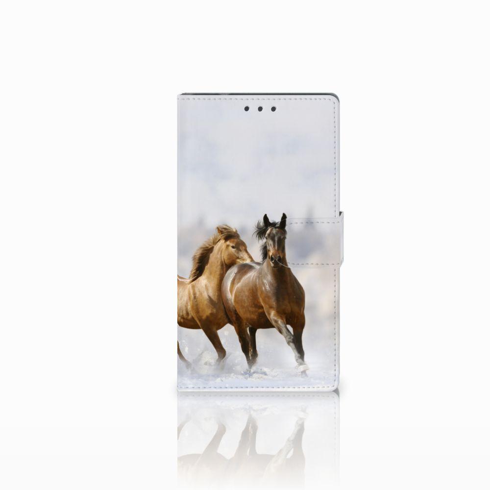 Samsung Galaxy Note 4 Uniek Boekhoesje Paarden