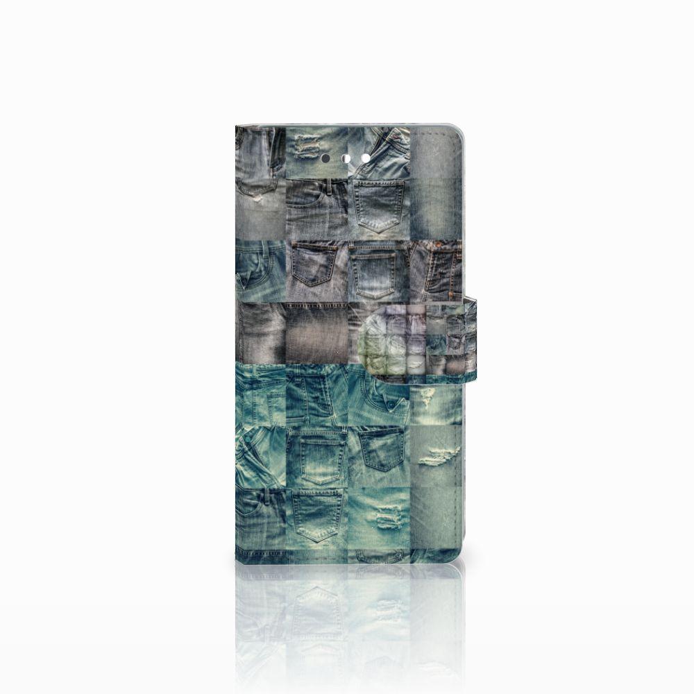 Huawei P9 Uniek Boekhoesje Spijkerbroeken