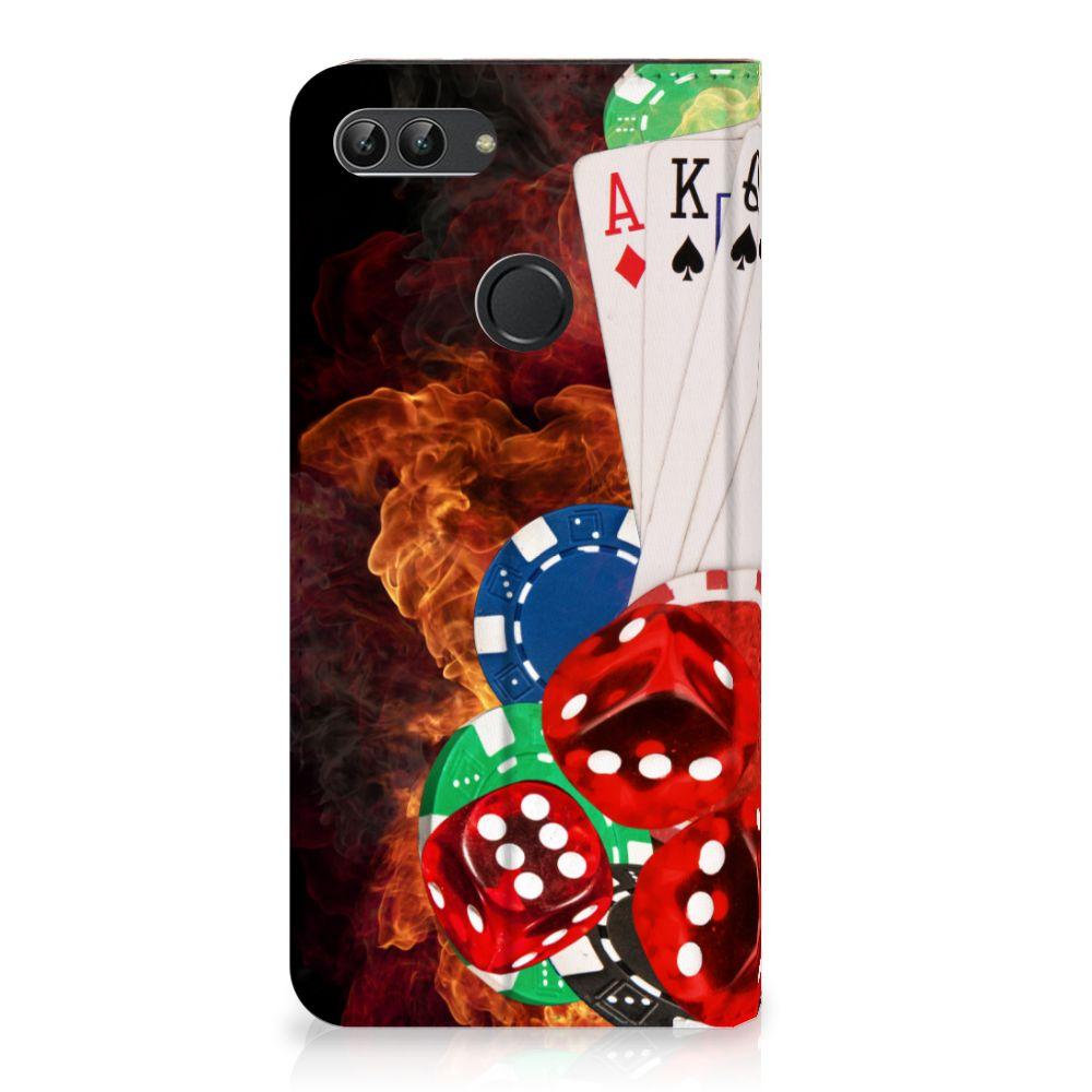 Huawei P Smart Uniek Standcase Hoesje Casino