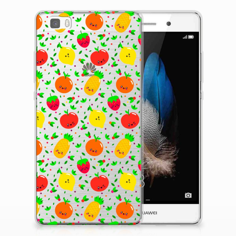 Huawei Ascend P8 Lite Siliconen Case Fruits