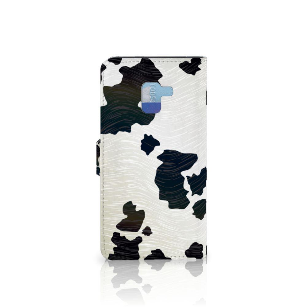 Samsung Galaxy A8 Plus (2018) Telefoonhoesje met Pasjes Koeienvlekken