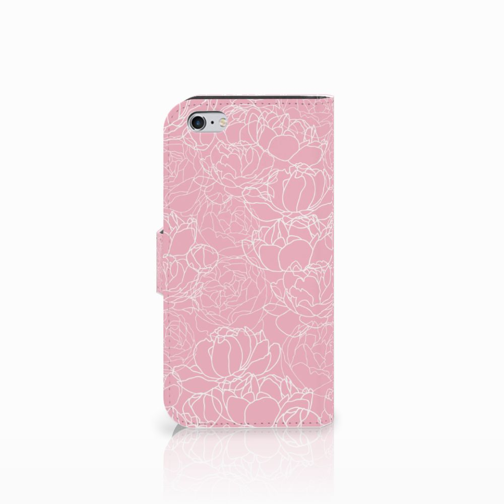 Apple iPhone 6 | 6s Hoesje White Flowers