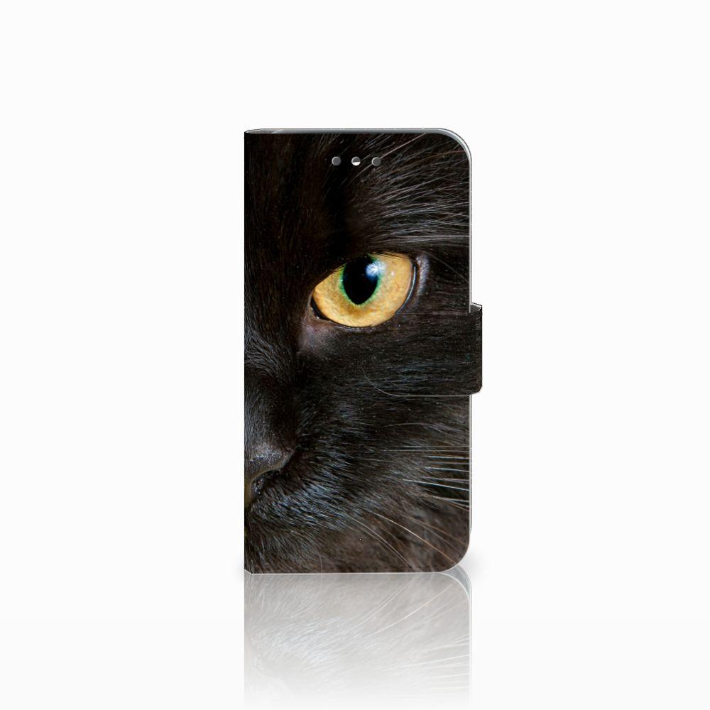 Wiko Wim Lite Uniek Boekhoesje Zwarte Kat