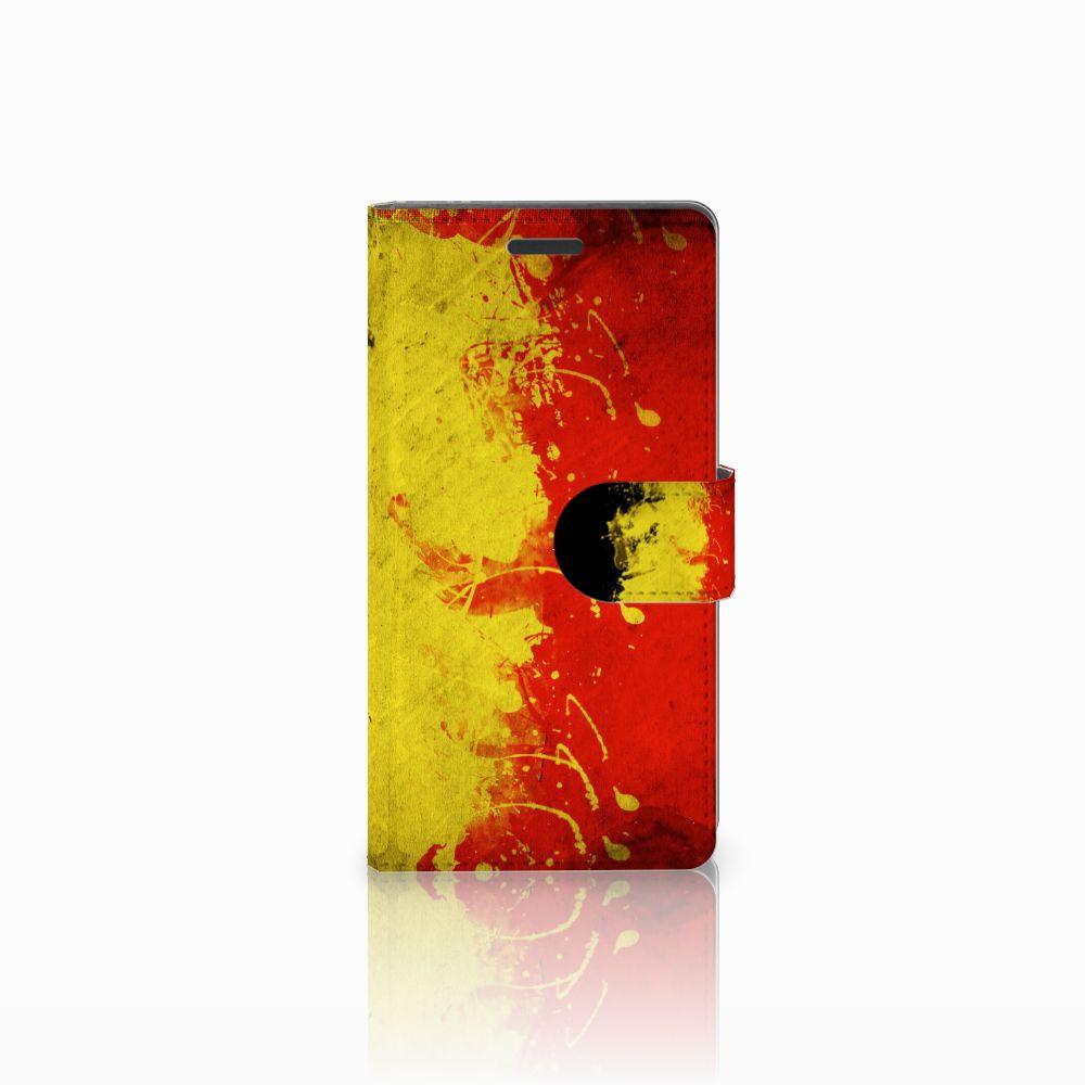 Nokia Lumia 830 Uniek Hoesje met Opbergvakjes Belgische Vlag