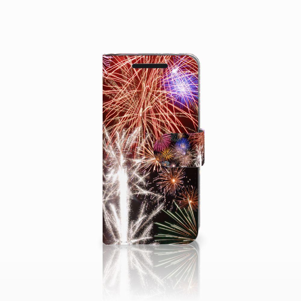 HTC One M9 Wallet Case met Pasjes Vuurwerk