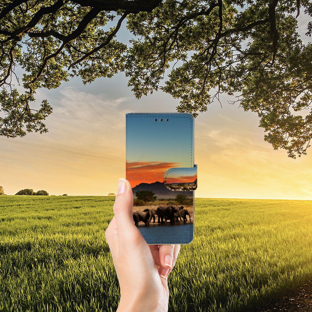 Sony Xperia Z5 | Z5 Dual Telefoonhoesje met Pasjes Olifanten