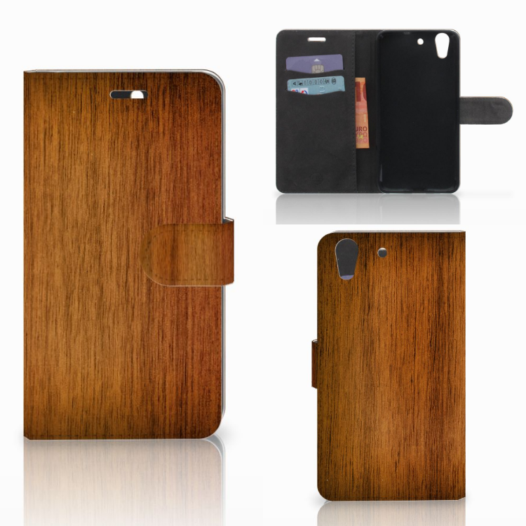 Huawei Y6 II | Honor 5A Book Style Case Donker Hout