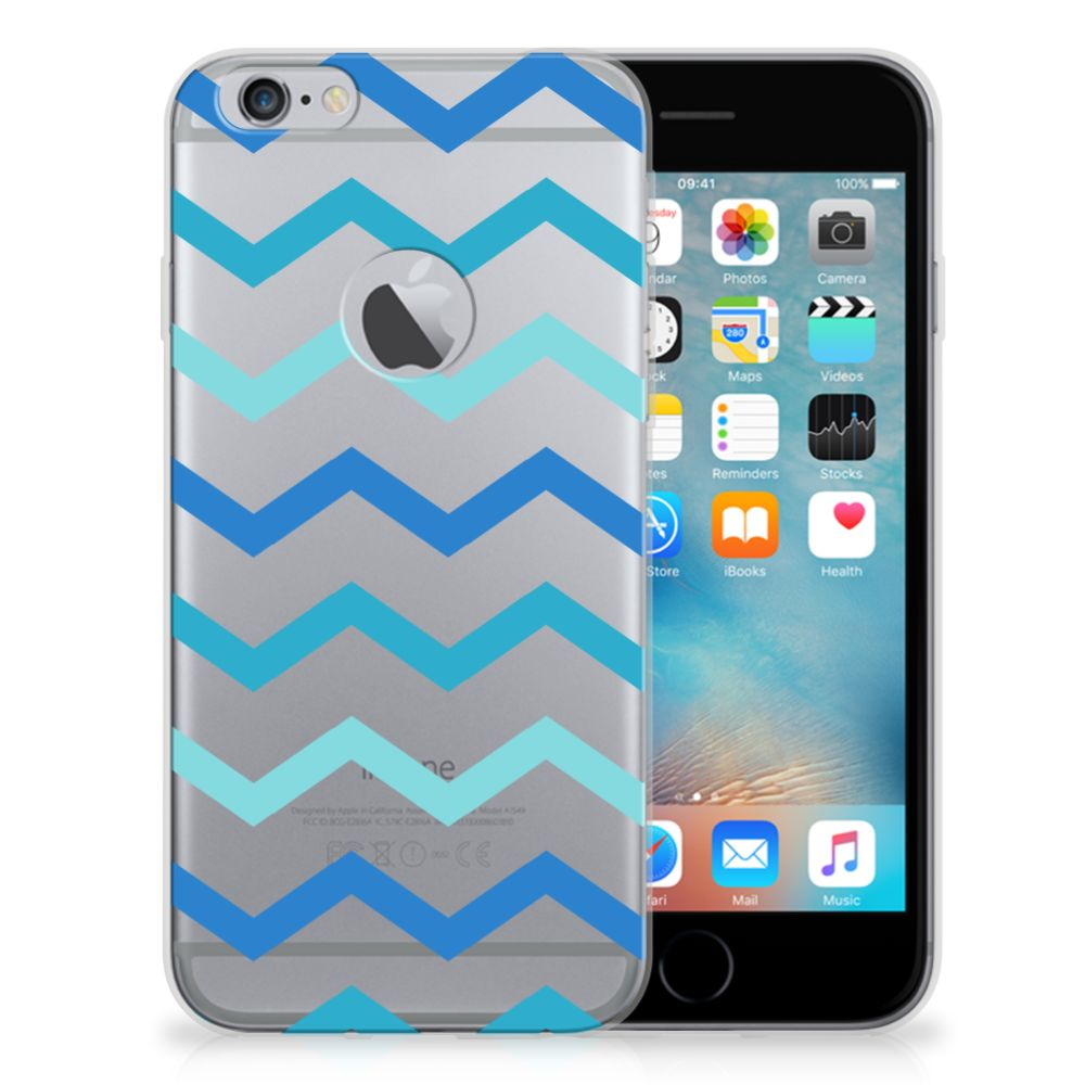 Apple iPhone 6 Plus | 6s Plus TPU bumper Zigzag Blauw