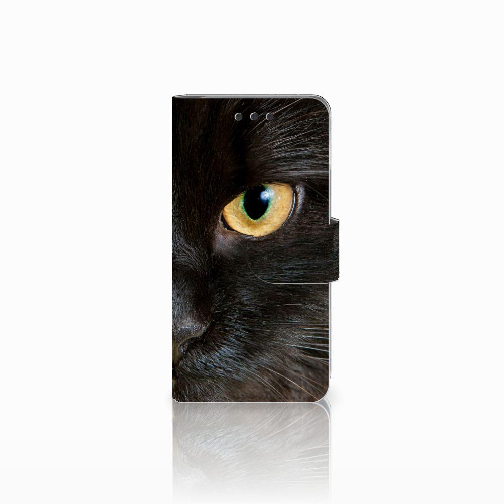 Samsung Galaxy A3 2016 Uniek Boekhoesje Zwarte Kat