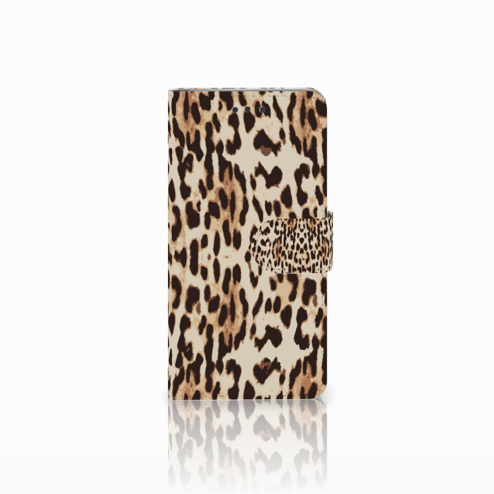 HTC U Play Uniek Boekhoesje Leopard