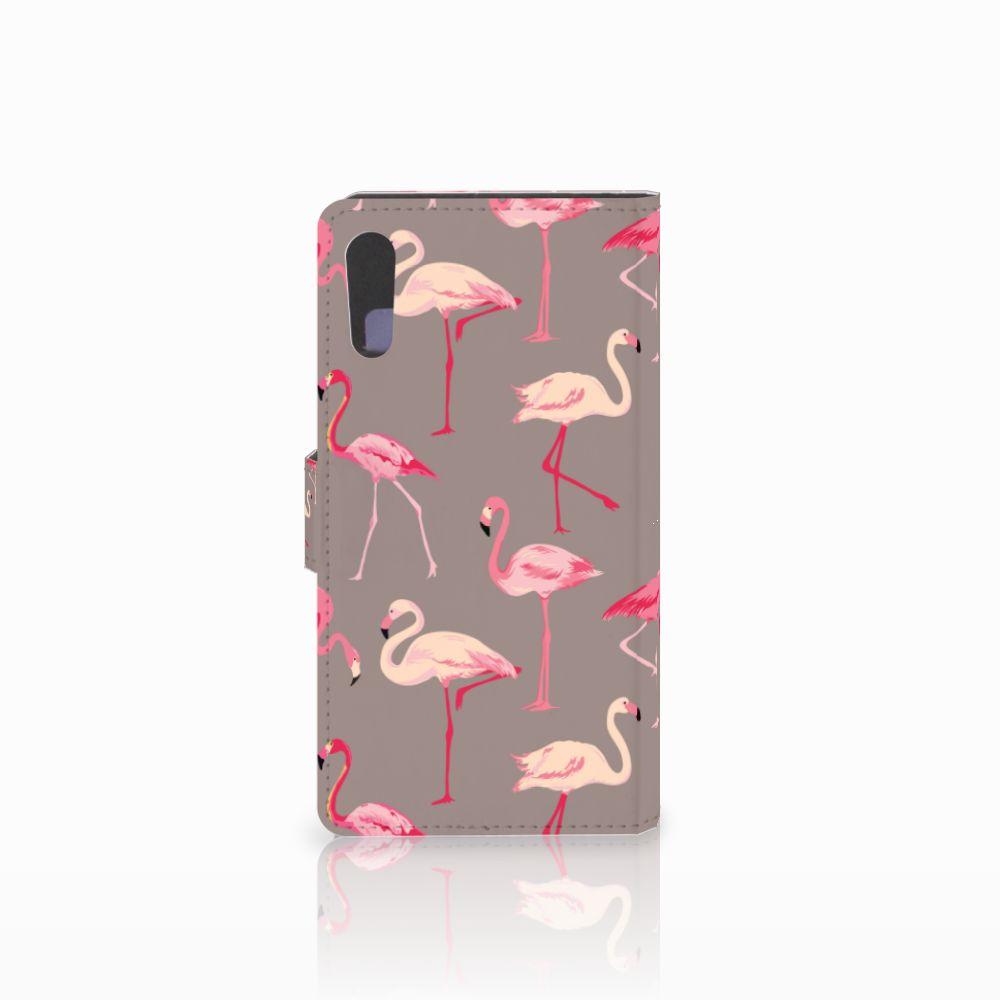 Sony Xperia XZ | Sony Xperia XZs Telefoonhoesje met Pasjes Flamingo