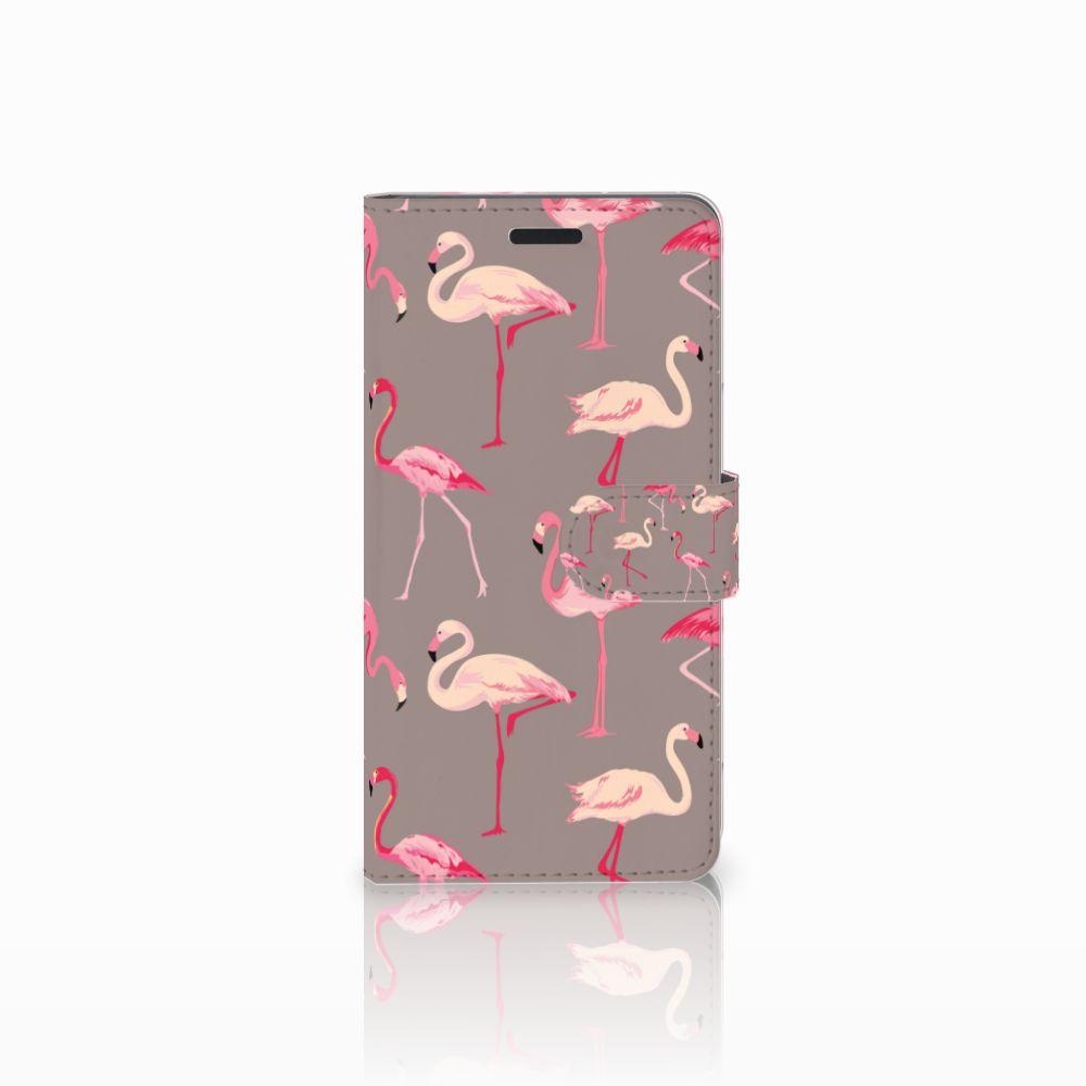 Samsung Galaxy A7 2015 Uniek Boekhoesje Flamingo