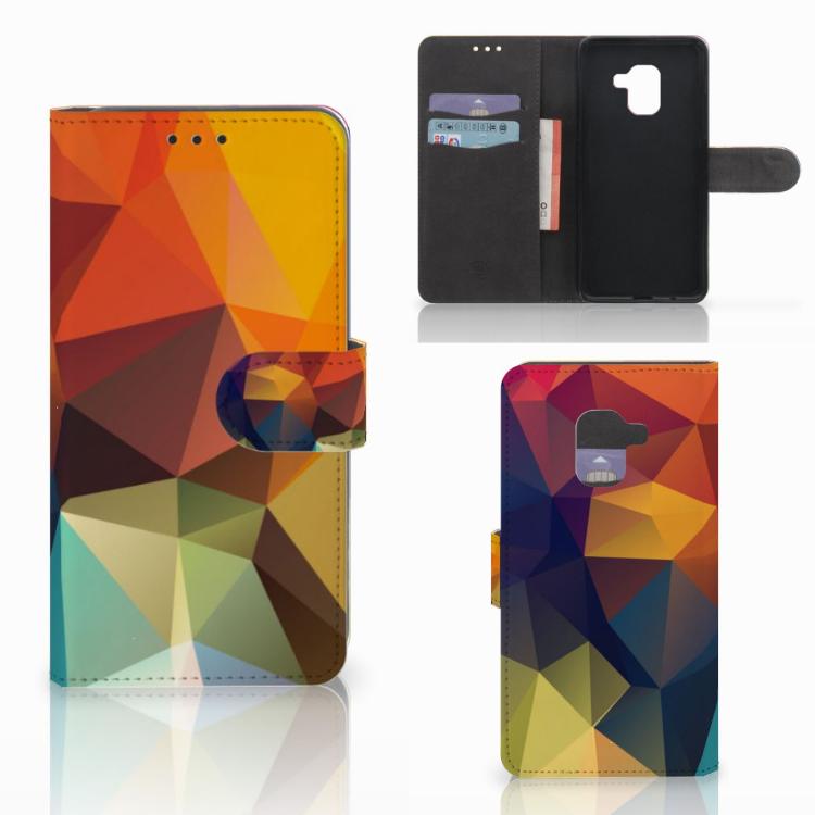 Samsung Galaxy A8 2018 Bookcase Polygon Color
