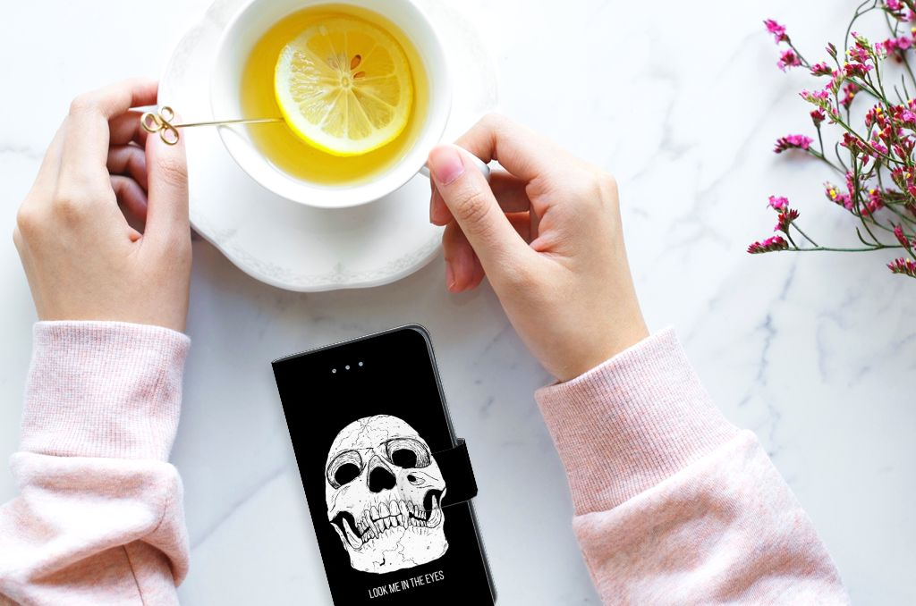 Samsung Galaxy J3 2016 Uniek Boekhoesje Skull Eyes