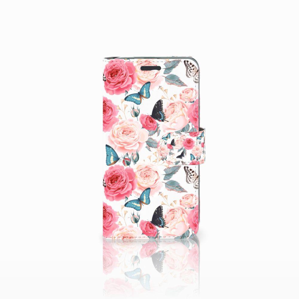 Acer Liquid Z520 Uniek Boekhoesje Butterfly Roses