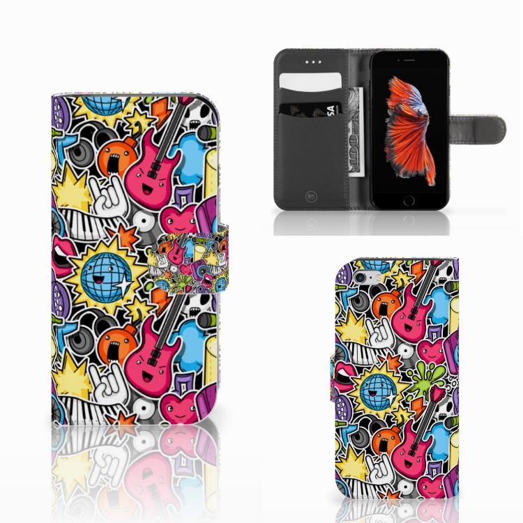 Apple iPhone 6 | 6s Wallet Case met Pasjes Punk Rock