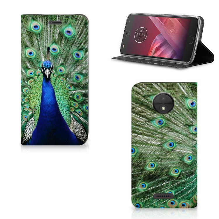 Motorola Moto C Hoesje maken Pauw