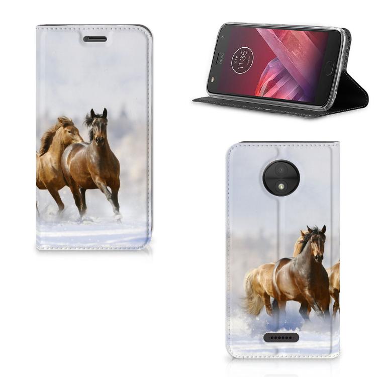 Motorola Moto C Hoesje maken Paarden