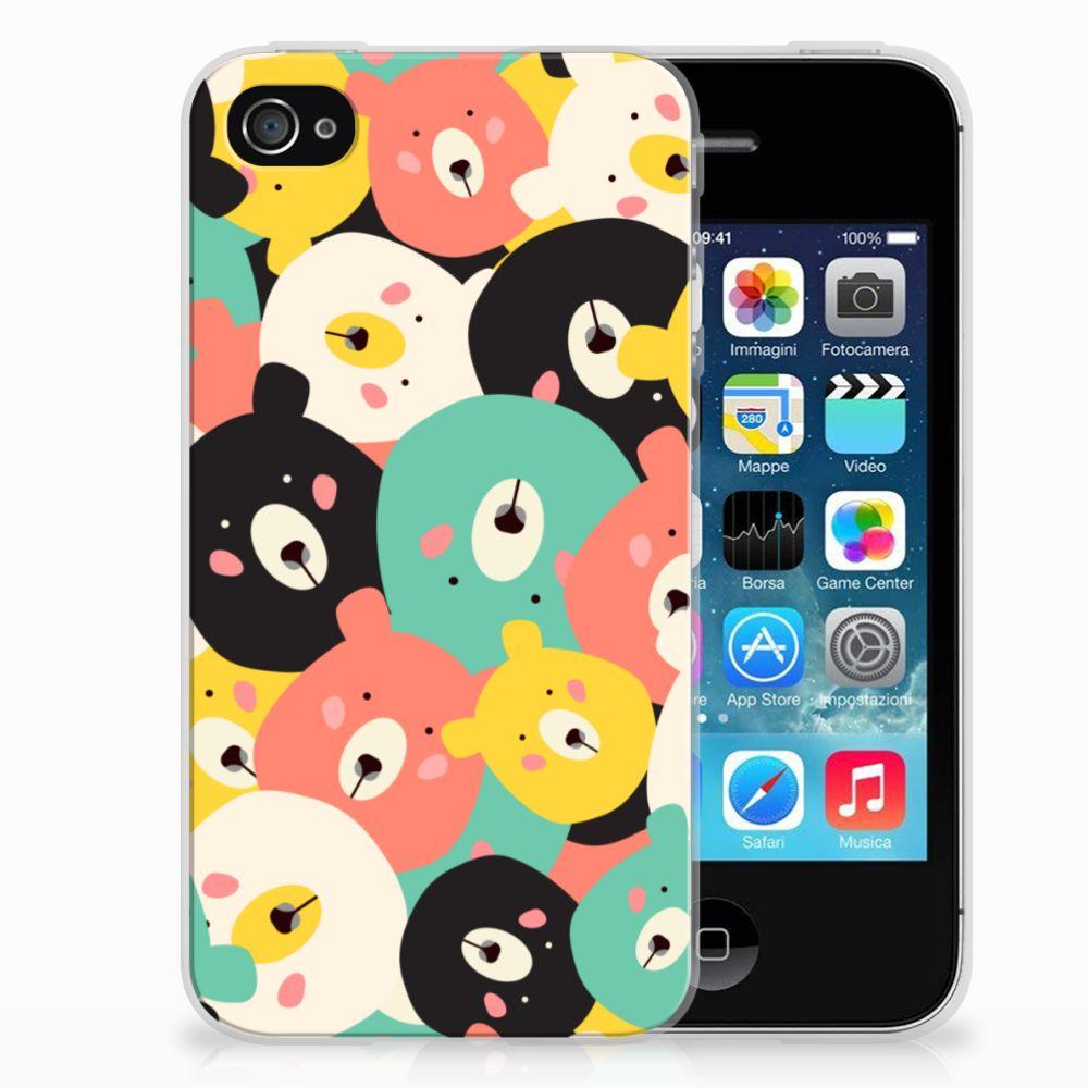 Apple iPhone 4   4s Telefoonhoesje met Naam Bears