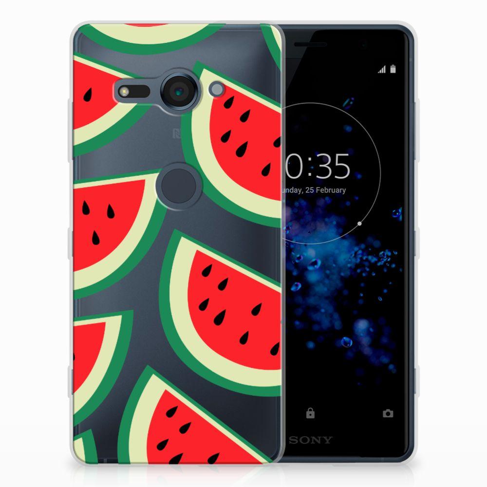 Sony Xperia XZ2 Compact Siliconen Case Watermelons