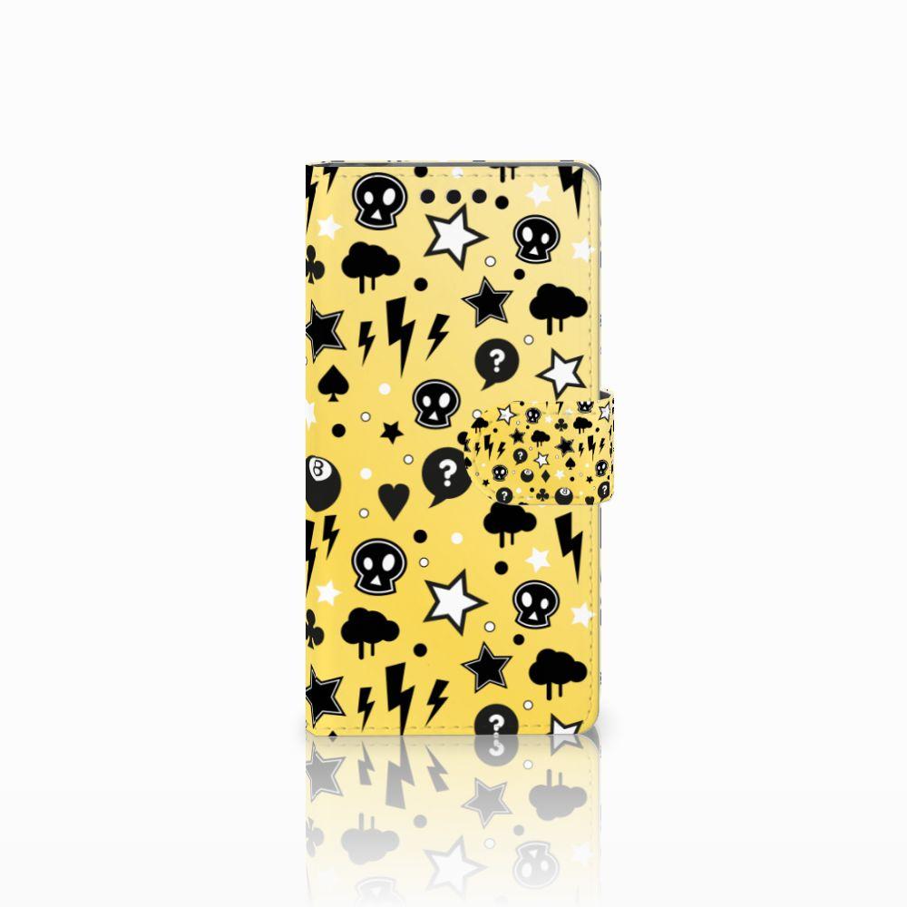 Sony Xperia M4 Aqua Uniek Boekhoesje Punk Yellow