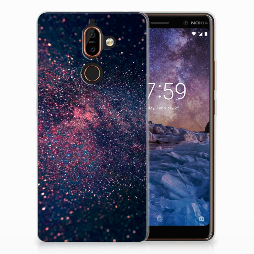 Nokia 7 Plus TPU Hoesje Stars
