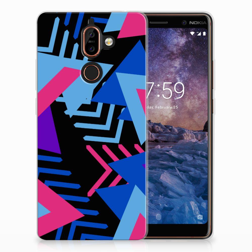 Nokia 7 Plus TPU Hoesje Funky Triangle
