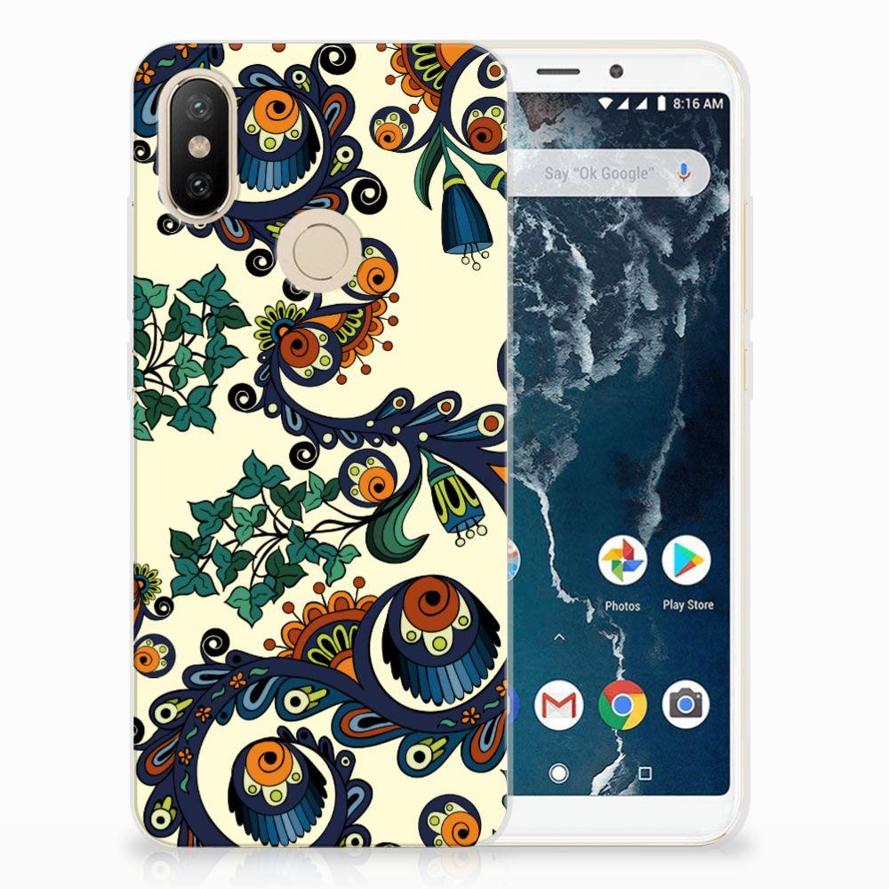 Siliconen Hoesje Xiaomi Mi A2 Barok Flower