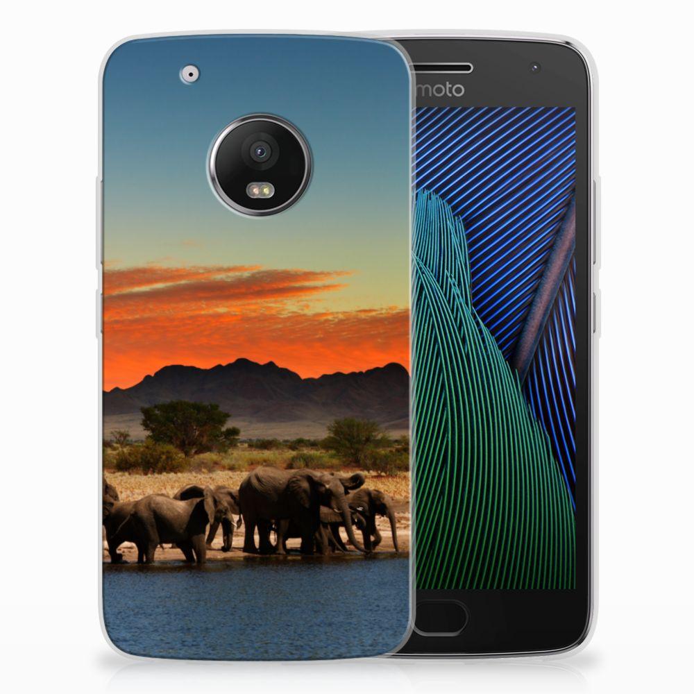 Motorola Moto G5 Plus TPU Hoesje Design Olifanten