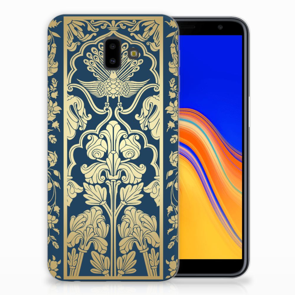 Samsung Galaxy J6 Plus (2018) Uniek TPU Hoesje Golden Flowers