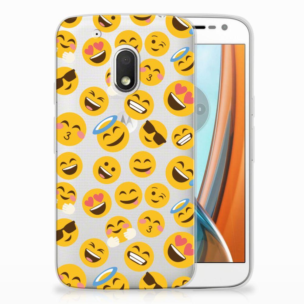 Motorola Moto G4 Play TPU Hoesje Design Emoji