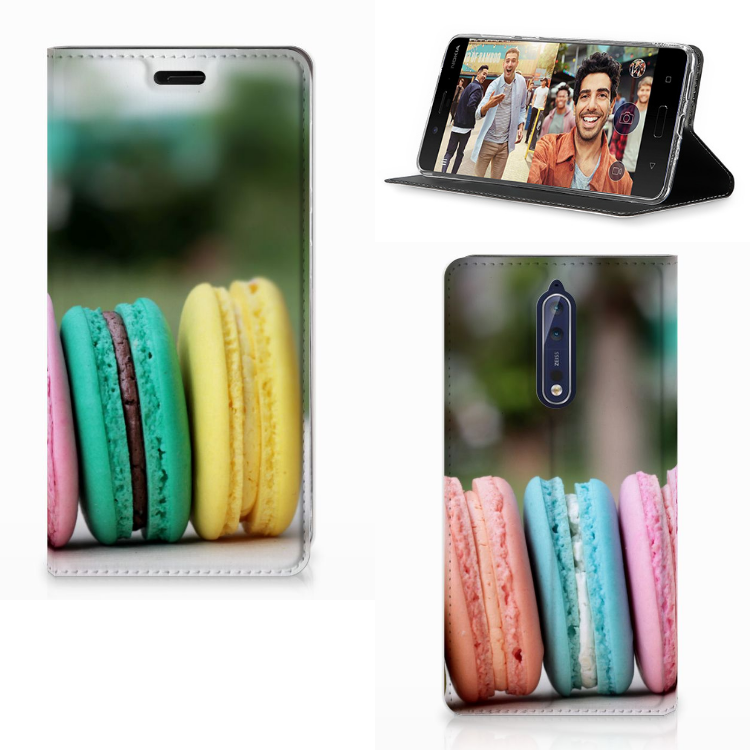 Nokia 8 Flip Style Cover Macarons