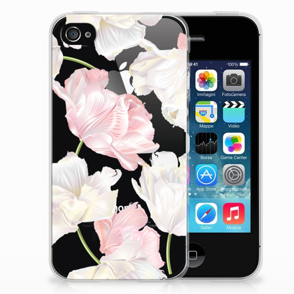 Apple iPhone 4 | 4s TPU Hoesje Design Lovely Flowers