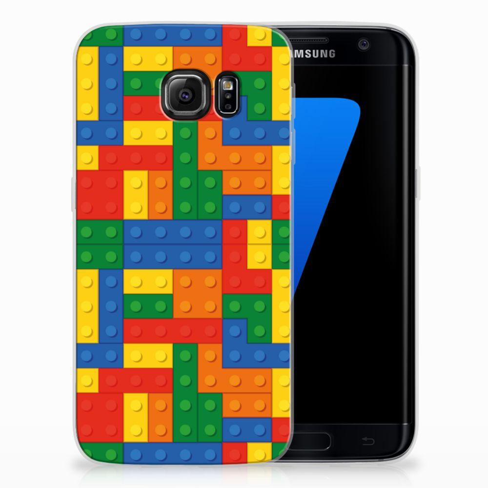 Samsung Galaxy S7 Edge Uniek TPU Hoesje Blokken