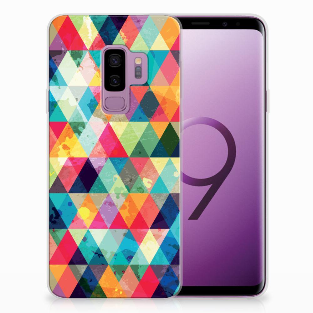 Samsung Galaxy S9 Plus Uniek TPU Hoesje Geruit