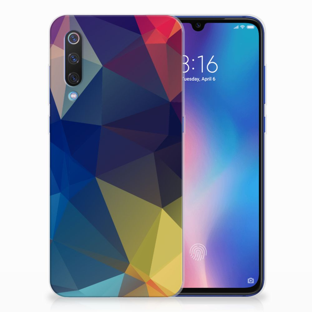 Xiaomi Mi 9 TPU Hoesje Polygon Dark