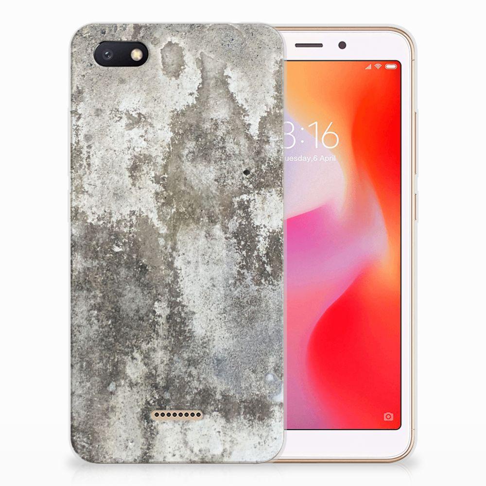 Xiaomi Redmi 6A TPU Siliconen Hoesje Beton Print