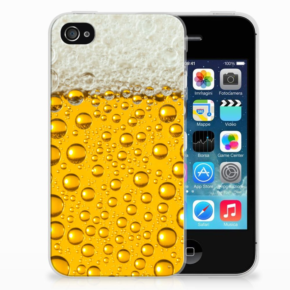 Apple iPhone 4 | 4s Siliconen Case Bier