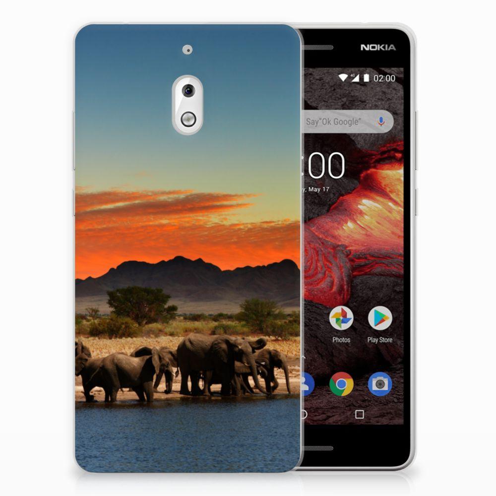 Nokia 2.1 (2018) TPU Hoesje Olifanten