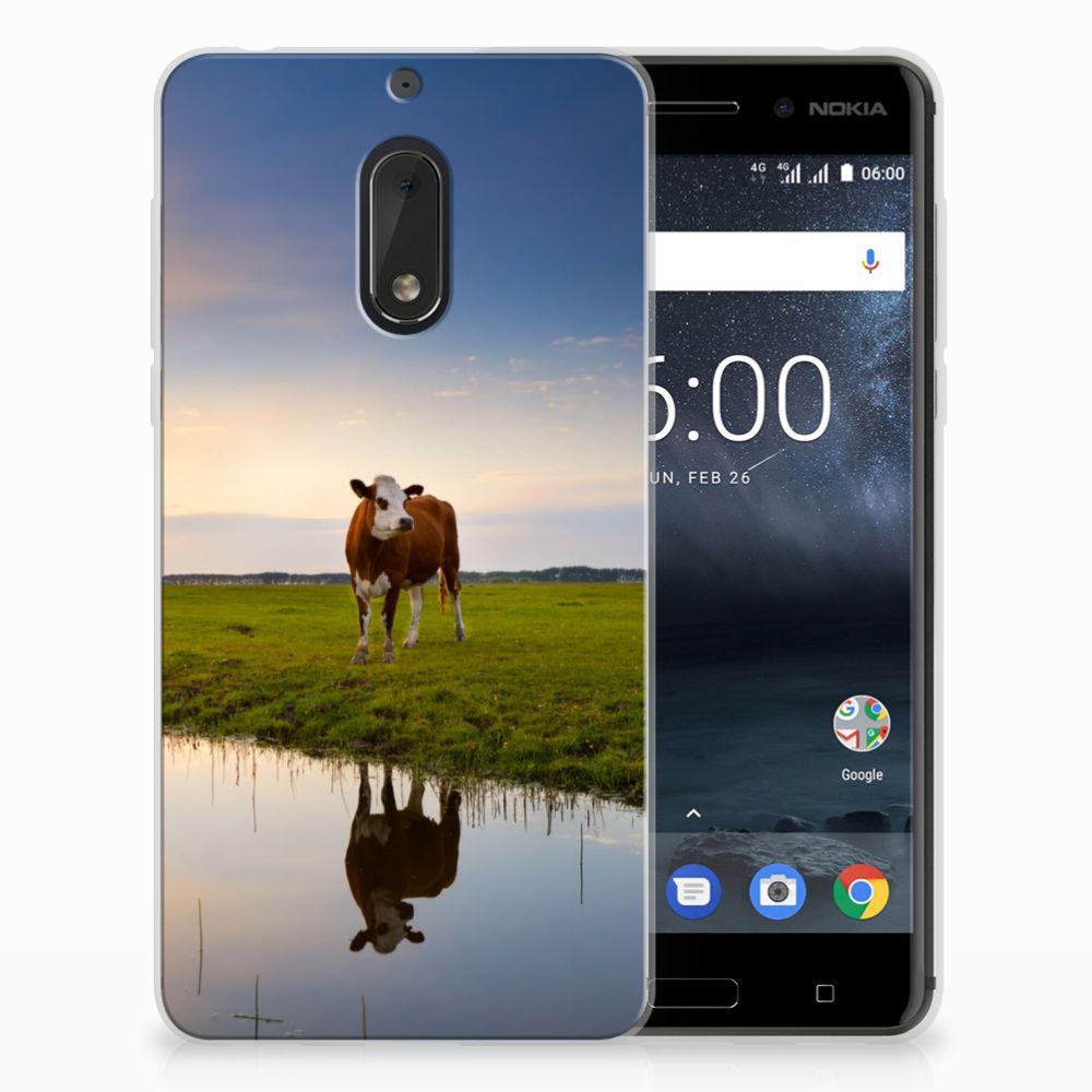 Nokia 6 TPU Hoesje Design Koe