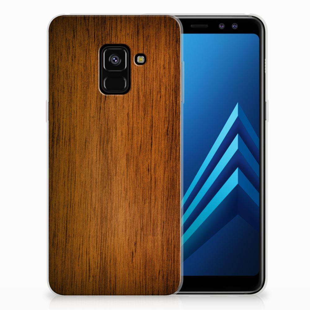 Samsung Galaxy A8 (2018) Uniek TPU Hoesje Donker Hout