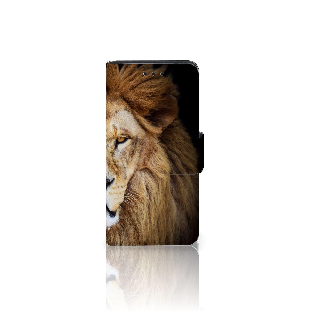 Samsung Galaxy S5 Mini Telefoonhoesje met Pasjes Leeuw