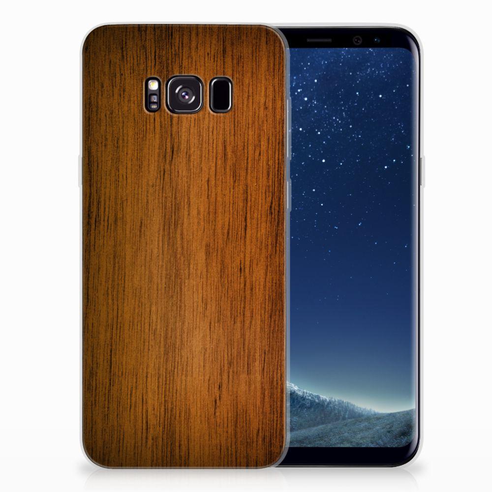 Samsung Galaxy S8 Plus Bumper Hoesje Donker Hout