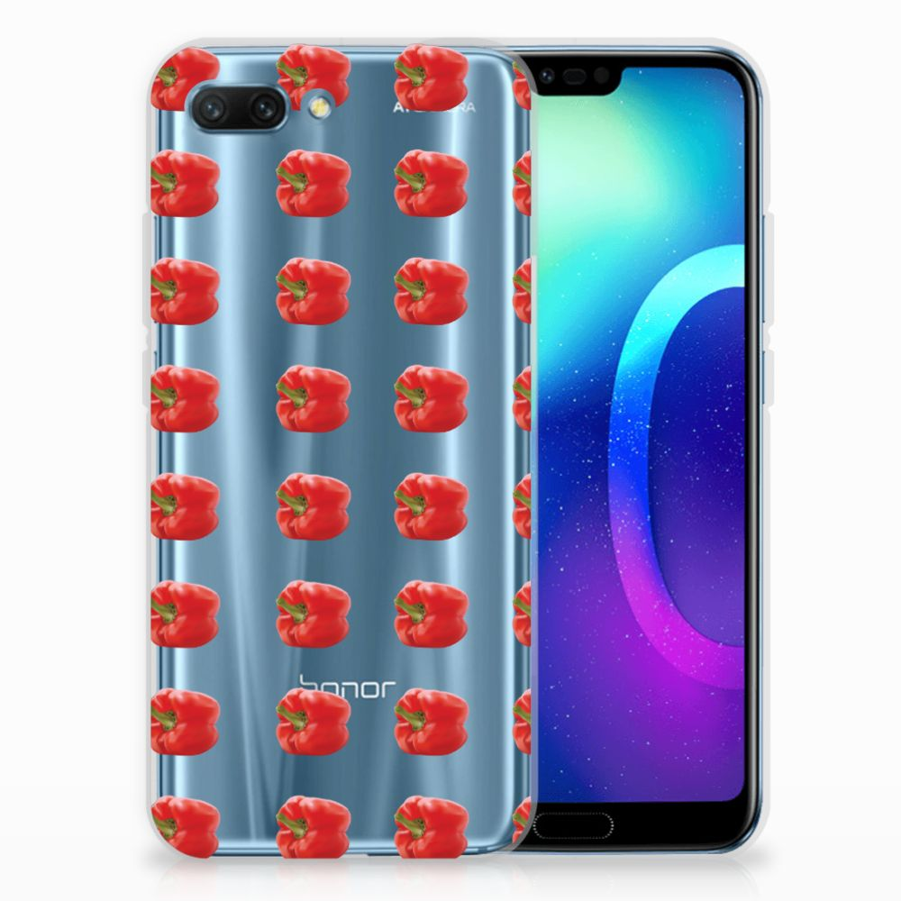 Huawei Honor 10 Siliconen Case Paprika Red
