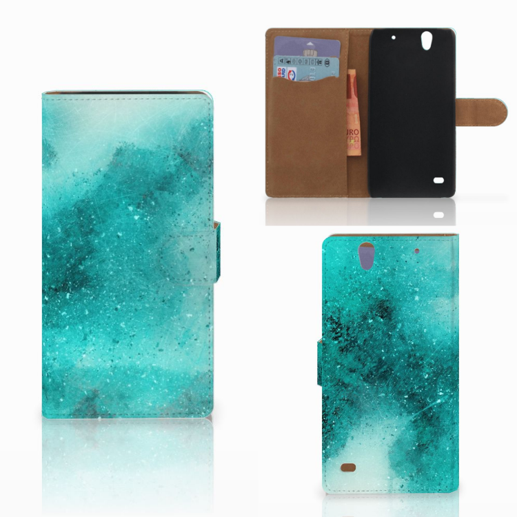 Hoesje Sony Xperia C4 Painting Blue