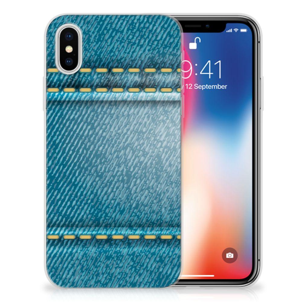 Apple iPhone X   Xs TPU Hoesje Design Jeans