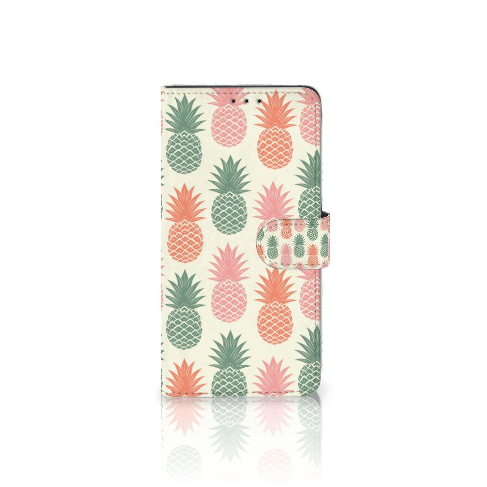 Samsung Galaxy A8 Plus (2018) Boekhoesje Design Ananas