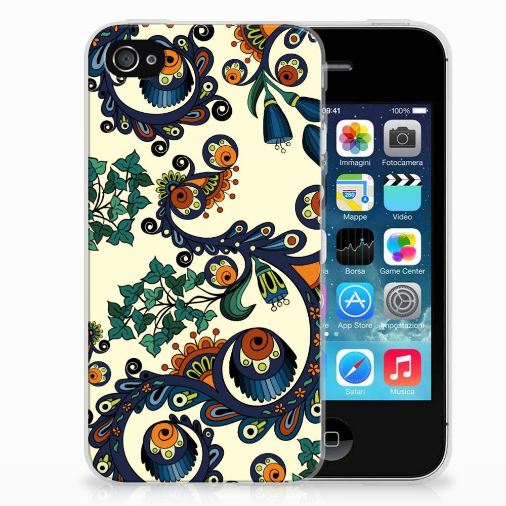 Siliconen Hoesje Apple iPhone 4 | 4s Barok Flower