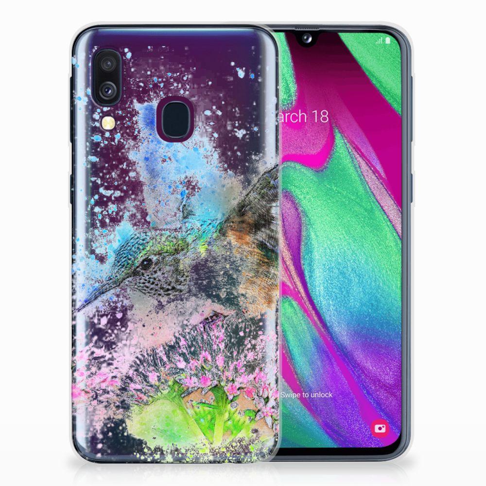 Samsung Galaxy A40 TPU Hoesje Design Vogel