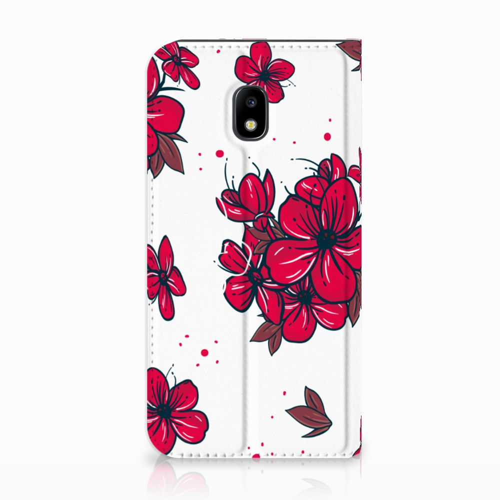 Samsung Galaxy J3 2017 Standcase Hoesje Design Blossom Red